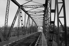 De stuiverbrug is een monument van architectuur van vroeg - Th-20 eeuw, de stad van Petrovsk het Volga gebied royalty-vrije stock foto's