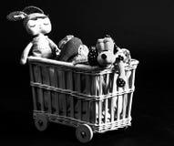De stuk speelgoed wagen royalty-vrije stock afbeeldingen