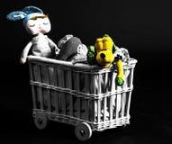 De stuk speelgoed wagen royalty-vrije stock foto