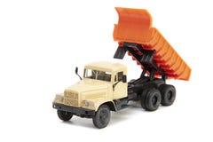 De stuk speelgoed zware vrachtwagen Stock Foto