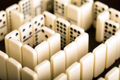 De stukken & het Labyrint van de domino Royalty-vrije Stock Foto's