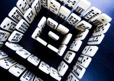 De stukken & het Labyrint van de domino Royalty-vrije Stock Afbeelding