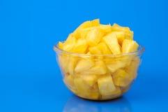 De stukken van de ananas stock afbeelding