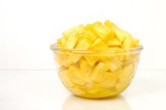 De stukken van de ananas royalty-vrije stock afbeelding