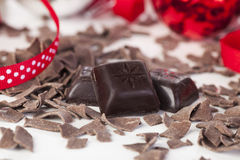 De Stukken van de chocolade Royalty-vrije Stock Afbeeldingen