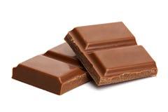 De stukken van de chocolade Stock Foto's