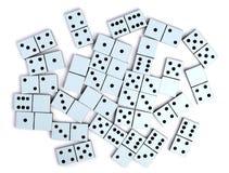 De stukken van de domino Stock Foto's