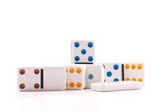 De Stukken van de domino Stock Fotografie