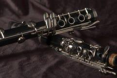 De stukken van de klarinet Royalty-vrije Stock Foto
