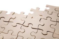 De stukken van de puzzel royalty-vrije stock foto