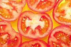 De stukken van de tomaat Stock Foto