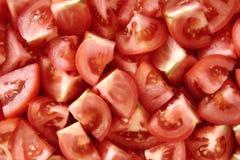 De Stukken van de tomaat Stock Afbeelding