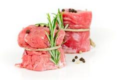 De stukken van de varkensvleesfilet Royalty-vrije Stock Foto's