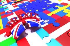 De Stukken van het Brexitraadsel Stock Foto
