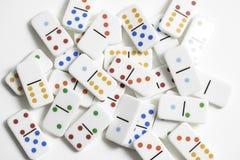 De Stukken van het dominospel Stock Foto's
