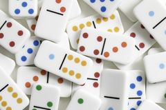 De Stukken van het dominospel Stock Afbeeldingen