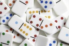 De Stukken van het dominospel Royalty-vrije Stock Foto