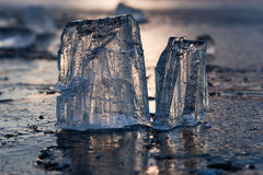 De stukken van het ijs Royalty-vrije Stock Fotografie