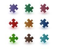 De stukken van het kleurenraadsel Royalty-vrije Stock Foto's