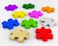 De stukken van het kleurenraadsel Vector Illustratie