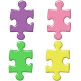 De Stukken van het Raadsel van de pastelkleur Royalty-vrije Stock Foto