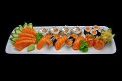 De Stukken van sushi Royalty-vrije Stock Fotografie
