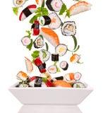 De stukken van sushi Royalty-vrije Stock Afbeelding