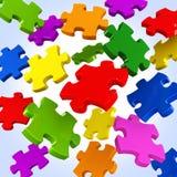 De stukkenachtergrond van het kleurenraadsel Vector Illustratie