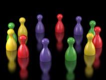 De stukkensymbool van het raadsspel voor leiding Stock Afbeeldingen