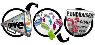 De Succesvolle Campagne van de Stappen van de Liefdadigheid van de liefdadigheidsinstelling vector illustratie