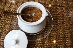 De Suiker van de koffie Stock Fotografie