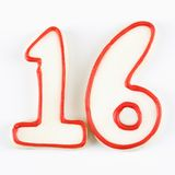 De suikerkoekjes van het aantal. Stock Fotografie