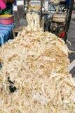 De suikerrietbagasse kan als document, brandstof, vernieuwbare ener worden gerecycleerd stock afbeeldingen