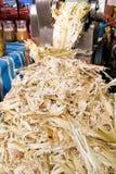 De suikerrietbagasse kan als document, brandstof, vernieuwbare ener worden gerecycleerd stock foto's