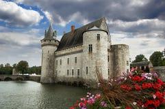 De sully-sur-Loire kasteel, Frankrijk Stock Foto
