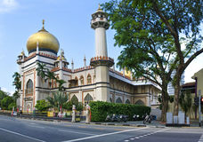 De Sultan van Masjid, de Moskee van Singapore royalty-vrije stock foto