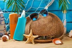De Sun todavía de la protección vida en la playa Imagen de archivo libre de regalías