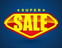 De super banner van de verkoopmarkering Stock Fotografie