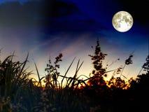 de super donkere wolk van de maanhoop in de nachthemel Royalty-vrije Stock Fotografie