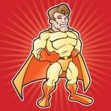 De Super Held van het beeldverhaal Stock Afbeeldingen