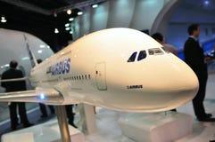 De super jumbo van de luchtbus A380 in Singapore Airshow Stock Afbeeldingen