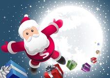 De super Kerstman komt! Stock Fotografie