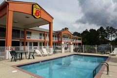 De super 8 motel Oceaanlentes Biloxi de Mississippi royalty-vrije stock foto