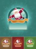 De super reeks van de santabanner. Stock Foto's