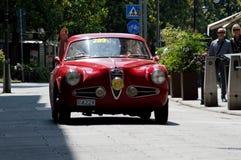 De Super Sprint Turing van Alfa Romeo 1900 in Mille Miglia 2016 Royalty-vrije Stock Afbeeldingen
