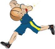 De super ster van het basketbal Stock Afbeelding