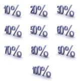 De super symbolen van het hoge resolutiepercentage vector illustratie