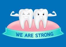 De super tand van het gezondheidsbeeldverhaal Stock Afbeelding