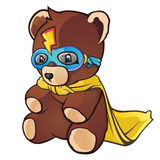 De super Teddybeer van de Held Royalty-vrije Stock Foto