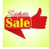 De super van de de aanbiedingsovereenkomst van de verkoopprijs vectoretiketten vector illustratie